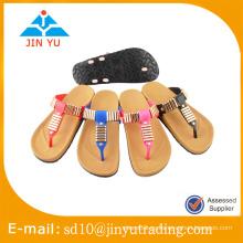 China precio de fábrica hermosa y sencilla sandalia señora estilo