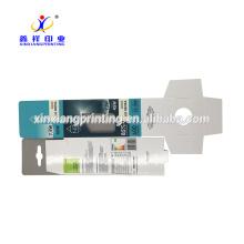 Customized Plastic Window Cardboard Paper Box With Hanging Tab