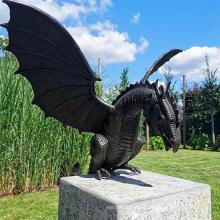 Dropshipping Outdoor Garden Decoration Dragon Fountain Ornament Resin Sculpture Dragon Statue