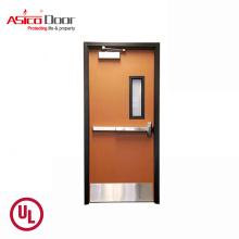 Exterior Metal Steel Emergency Fireproof Glass Door With UL Listed