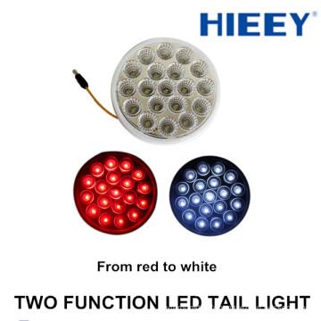 2015 NOUVEAU 4inch LED rond queue lumière 12/24 rond lumière arrière pour camion et remorques