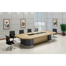 Mobiliário de mesa de conferência de escritório elegante de madeira de escritório (HF-FHY1006)