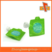 Bolsa reutilizável do bico do zipper, stand up bico para a embalagem do sanitizer da mão