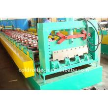 Máquina de fabricación de cubiertas metálicas de acero mediante perfilado