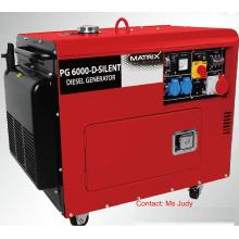 Geradores diesel refrigerados a ar silenciosos Bn5800dse-3 trifásicos 5kw