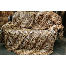 teñido e impresión de color tigre mejor calidad rex manta de piel de conejo