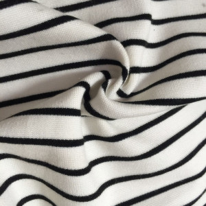 White black Stripe Nylon Roma fabric