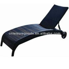 Folding Foldable Rattan Wicker Chaise Lounge