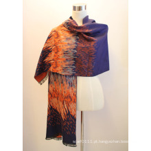 Senhora fashion viscose tecido jacquard franjas xaile (yky4414-2)