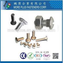 Boulon de chariot à vis à tête rond ASME B18.5 en acier inoxydable en acier inoxydable