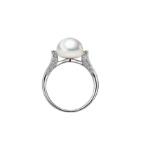 Anneau de fiançailles avec perle d'eau douce