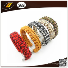 High Quality Paracord 550 Survival Bracelet with Adjustable Stainless Steel Clasp