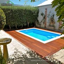 Color de teca al aire libre resistente a grietas a prueba de grietas Merbau Decking madera