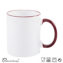 11oz Color Chnaing Mug Solid Color with Rim Glazed