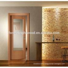 Interior Swinging Wood Door with Beveled Glass
