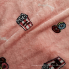 Розовая двухсторонняя мягкая фланелевая пижама с принтом