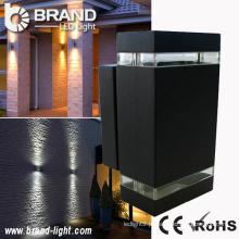 Alta potência 2x6x1W retângulo luz de parede para cima e para baixo LED retângulo luz de parede ao ar livre