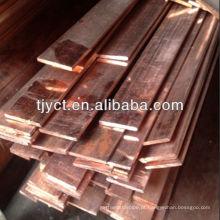 Barra plana de cobre C1100 / c1220