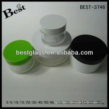 BEST-3746/petg jar/straight round shape acrylic jar,pmma,abs,as,3/5/10/15/20/30/40/50/60/100/150/200/240/ml cream cosmetic jars