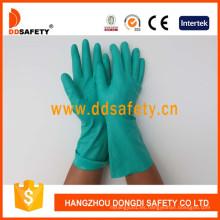 Guantes de industria de nitrilo verde DHL446