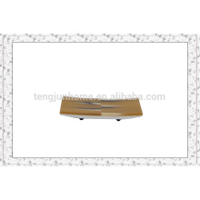 Eco Friendly Yellow Imitation Horn face towel tray with radial pattern