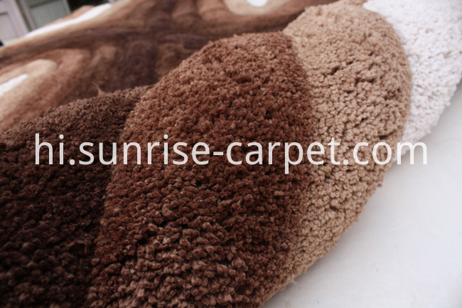 Soft Microfiber Shaggy 3d Design Carpet