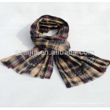 Moda mens verificado lenço de algodão