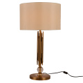 Luxury Retro American Style Metal Bedside Table Lamp For Home Decor