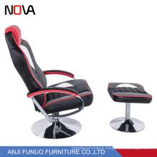 Nova fashion leather ergonomic revolving gaming chair with ottoman