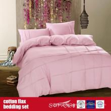 Ropa de cama de lino del algodón para el uso casero del hotel de lujo
