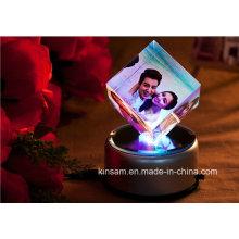 Marco de fotos Crystal Cube para regalo de Navidad