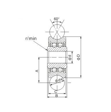 LFR5301KDD Guide roller bearings