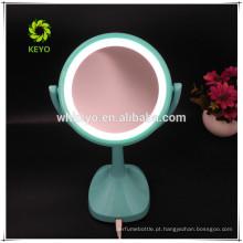 2018 novo design quente LED de luz 5X ampliação espelho de maquilhagem