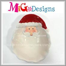 OEM Wholesale Ceramic Christmas Santa Design Plate and Dish