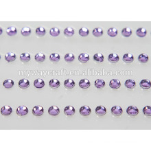 Adesivos de gema de cristal autocolantes de cristal bling adesivo de diamante de strass DIY