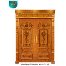 Holztür im europäischen Stil für Außen mit zwei Türen (ds-006)