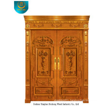 European Style Wood Door for Exterior with Two Doors (ds-006)
