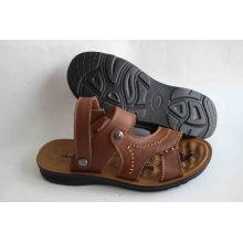 Klassische Stil Männer Strand Schuhe Leder Obermaterial (SNB-14-017)