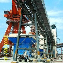 Aplicación del transportador de correa confeccionado Cema / DIN / ASTM / Sha en acerías / cemento / puerto