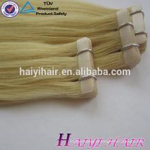 Einfache Farbe 8A Grade Großhandel Virgin Remy Tape Auf Haarverlängerung