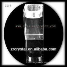 Suporte de vela de cristal popular Z017