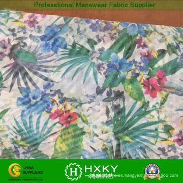 Tela de seda impresa transferencia floral caliente de la gasa para la ropa de la señora