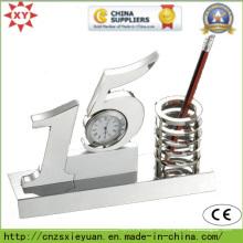 Награда Metal Trophy с часами и контейнером для пера