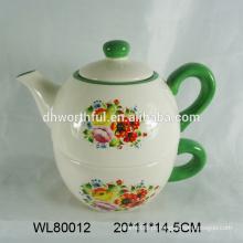 Lovely flor design teapot de cerâmica