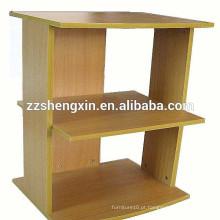 Prateleira de produtos de madeira para exposições simples