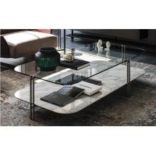 Mesa de centro con tapa de vidrio
