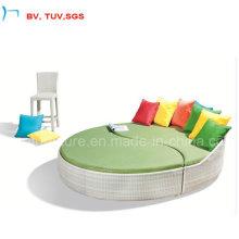 Hotel Aluminium Frame Outdoor Wicker Sun Bed (4061B)