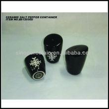 Bellas ilustraciones de cerámica sal y pimienta molino para BS12056D