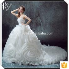 2017 Sexy V Neck Vestido De Noiva Vestido De Mariage Lace Mermaid Ruffled Wedding Dress