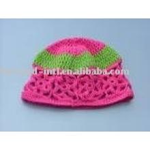 cashmere crochet flower hat